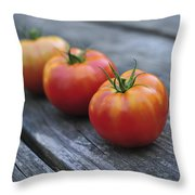 Jersey Tomatoes  Throw Pillow
