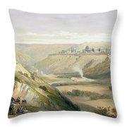 Jerusalem April 5th 1839 Throw Pillow by David Roberts
