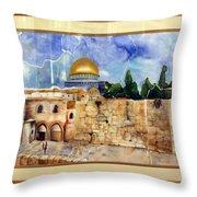 Jerusalem Cradle Of Civilization Throw Pillow