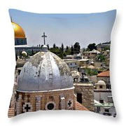 Jerusalem Old City Domes Throw Pillow