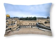Jerusalem The Western Wall Throw Pillow