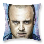 Jesse Pinkman - Breaking Bad Throw Pillow by Olga Shvartsur