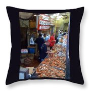 Jessie's Cooked Seafood  Throw Pillow