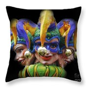 Jesters Throw Pillow