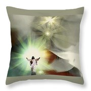 Jesus Abstract Throw Pillow