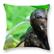 Jesus And Child Statute Throw Pillow