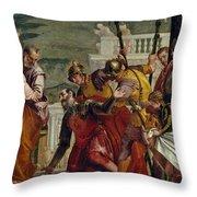 Jesus And The Centurion Throw Pillow