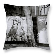 Jesus And The Gangster Throw Pillow
