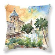 Jesus By Palermo Cathedral Throw Pillow