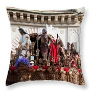 Jesus Christ And Roman Soldiers On Procession Throw Pillow
