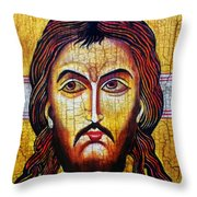 Jesus Christ Mandylion Throw Pillow