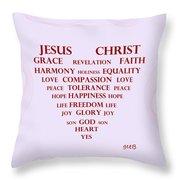 Jesus Christ Message Throw Pillow by Georgeta  Blanaru