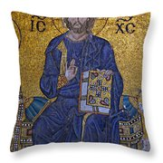 Jesus Christ Mosaic Throw Pillow