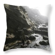 Jesus Christ- Walking Among Angel Mist Throw Pillow