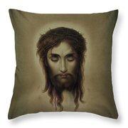 Jesus Christus Portrait By Martie Circa 1876 Throw Pillow