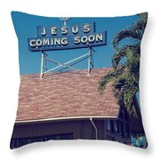 Jesus Coming Soon Church Maui Hawai Throw Pillow