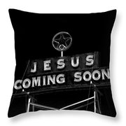 Jesus Coming Soon Throw Pillow