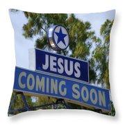 Jesus Coming Soon Throw Pillow
