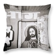Jesus In Mumbai Throw Pillow