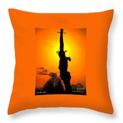 Jesus In Sunset 1 Hope Throw Pillow