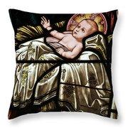 Jesus Is Born Throw Pillow