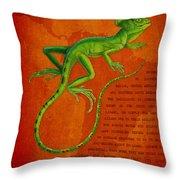 Jesus Lizard Throw Pillow