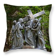 Jesus Meets His Mother Throw Pillow