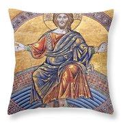 Jesus Mosaics Throw Pillow