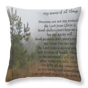 Jesus My Source Of All Things Throw Pillow