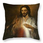 Jesus Of Divine Mercy Throw Pillow
