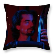 Jesus On The Bass Throw Pillow by Dana Patterson
