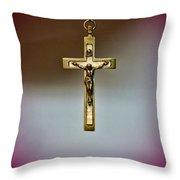 Jesus On The Cross 3 Throw Pillow