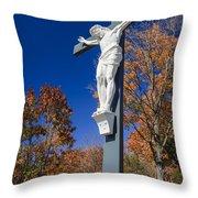 Jesus On The Cross Throw Pillow