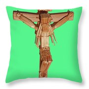 Jesus On The Cross In Mexico 1925 Throw Pillow