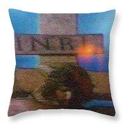 Jesus On The Cross Mosaic Throw Pillow