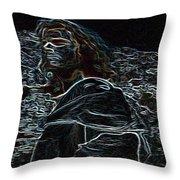 Jesus Preaching On The Mount Throw Pillow