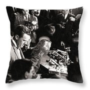 Jesus Press Conference 1966 Throw Pillow
