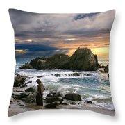 Jesus' Sunset Throw Pillow