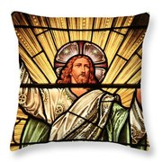 Jesus - The Light Of The Wold Throw Pillow