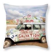 Jesus Wagon Throw Pillow