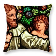Jesus With Children Throw Pillow