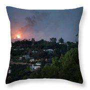 Jesusita Wildfire Burn In The Distance Throw Pillow