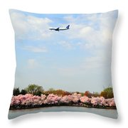 Jet Blue Airlines Throw Pillow