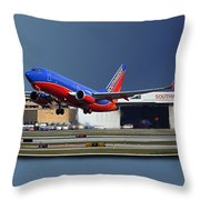 Jet Chicago Airplanes 12 Out Of Bounds Throw Pillow