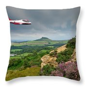 Jet Provost Over The Cleveland Hills Throw Pillow