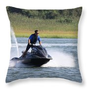 Jet Skier Throw Pillow