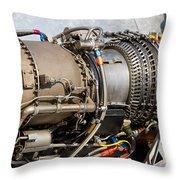 Jet Turbine Engine  Throw Pillow