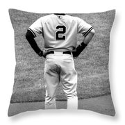 Jeter 2 Bw Edit Throw Pillow