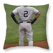 Jeter 2 Throw Pillow by Stephen Melcher