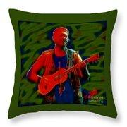 Jethro Tull-96-a21-fractal Throw Pillow